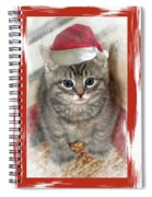 Kitten Playing Santa  Spiral Notebook