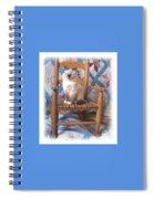 Kitten, Quilt And Rocker Spiral Notebook