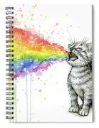 Kitten Tastes The Rainbow Spiral Notebook