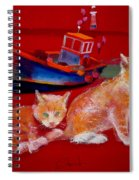 Kittens On The Beach Spiral Notebook