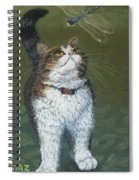 Kitty And Her Dragonfly Spiral Notebook