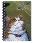 Kitty And The Dragonfly Close-up Spiral Notebook