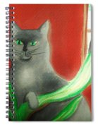 Kitty In The Plants Spiral Notebook