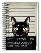 Kitty Mugshot Spiral Notebook