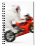 Kitty On A Motorcycle Doing A Wheelie Spiral Notebook