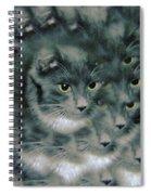 Kitty Portrait  Spiral Notebook