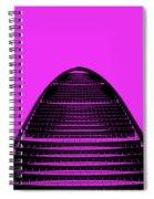 Kk100 Shenzhen Skyscraper Art Pink Spiral Notebook