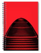 Kk100 Shenzhen Skyscraper Art Red Spiral Notebook