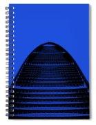 Kk100 Shenzhen Skyscraper Art Blue Spiral Notebook