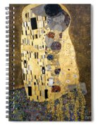 Klimt: The Kiss, 1907-08 Spiral Notebook