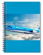Klm F70 Cityhopper Spiral Notebook