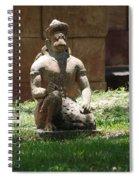 Kneeling Monkey Spiral Notebook