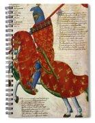 Knight, 14th Century Spiral Notebook