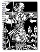 Knight Of Arthur, Preparing To Go Into Battle Spiral Notebook