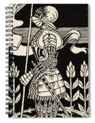 Knight Of Arthur, Preparing To Go Into Battle, Illustration From Le Morte D'arthur By Thomas Malory Spiral Notebook