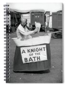 Knight Of The Bath Spiral Notebook