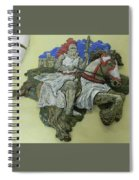 Knight Of Wands Spiral Notebook