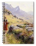 Knitting In A Norwegian Landscape Spiral Notebook