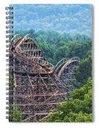 Knobels Wooden Roller Coaster  Spiral Notebook