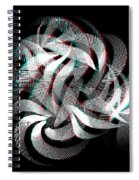 Knotplot 1 - Use Red-cyan 3d Glasses  Spiral Notebook