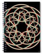 Knotplot 12 - Use Red-cyan 3d Glasses Spiral Notebook