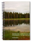 Knowing Trees Spiral Notebook