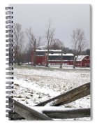 Knox Farm In Winter 0980 Spiral Notebook