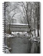 Knox Valley Forge Covered Bridge In Winter Spiral Notebook