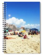 Blue Sky Day In Ocean City Spiral Notebook
