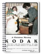 Kodak Advertisement, 1904 Spiral Notebook