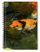 Koi Fish Blowing Bubbles Spiral Notebook