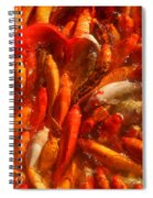 Koi Fishes In Feeding Frenzy Spiral Notebook