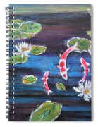 Koi In Lilly Pond Spiral Notebook