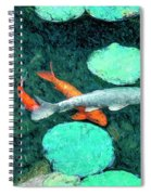 Koi Pond 3 Spiral Notebook