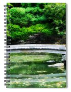 Koi Pond Bridge - Japanese Garden Spiral Notebook