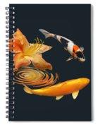 Koi With Azalea Ripples Spiral Notebook