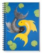 Koi Yin-yang Spiral Notebook