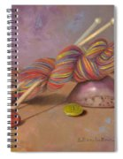 Koigu Yarn With Buttons Spiral Notebook