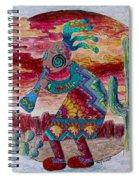 Kokopelli 7 Spiral Notebook