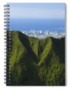 Koolau Mountains And Honolulu Spiral Notebook