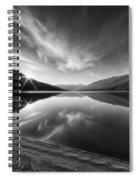 Kootenay Lake Sunrise Black And White Spiral Notebook