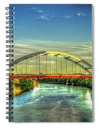 Korean Veterans Memorial Bridge 2 Nashville Tennessee Sunset Art Spiral Notebook