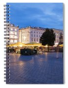 Krakow Main Square By Night Spiral Notebook