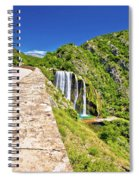 Krcic Waterfall In Knin Scenic View Spiral Notebook