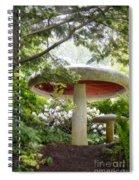 Krider Garden Mushroom Spiral Notebook