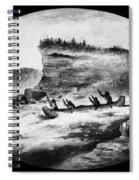 Krieghoff: Canoe On Rapids Spiral Notebook