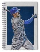 Kris Bryant Chicago Cubs Art 3 Spiral Notebook