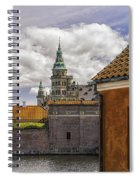 Kronborg Castle From The Moat House Spiral Notebook
