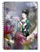 Kuan Yin Lotus Of Healing Spiral Notebook