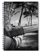Kuau Palm Trees Hawaiian Outrigger Canoe Paia Maui Hawaii Spiral Notebook